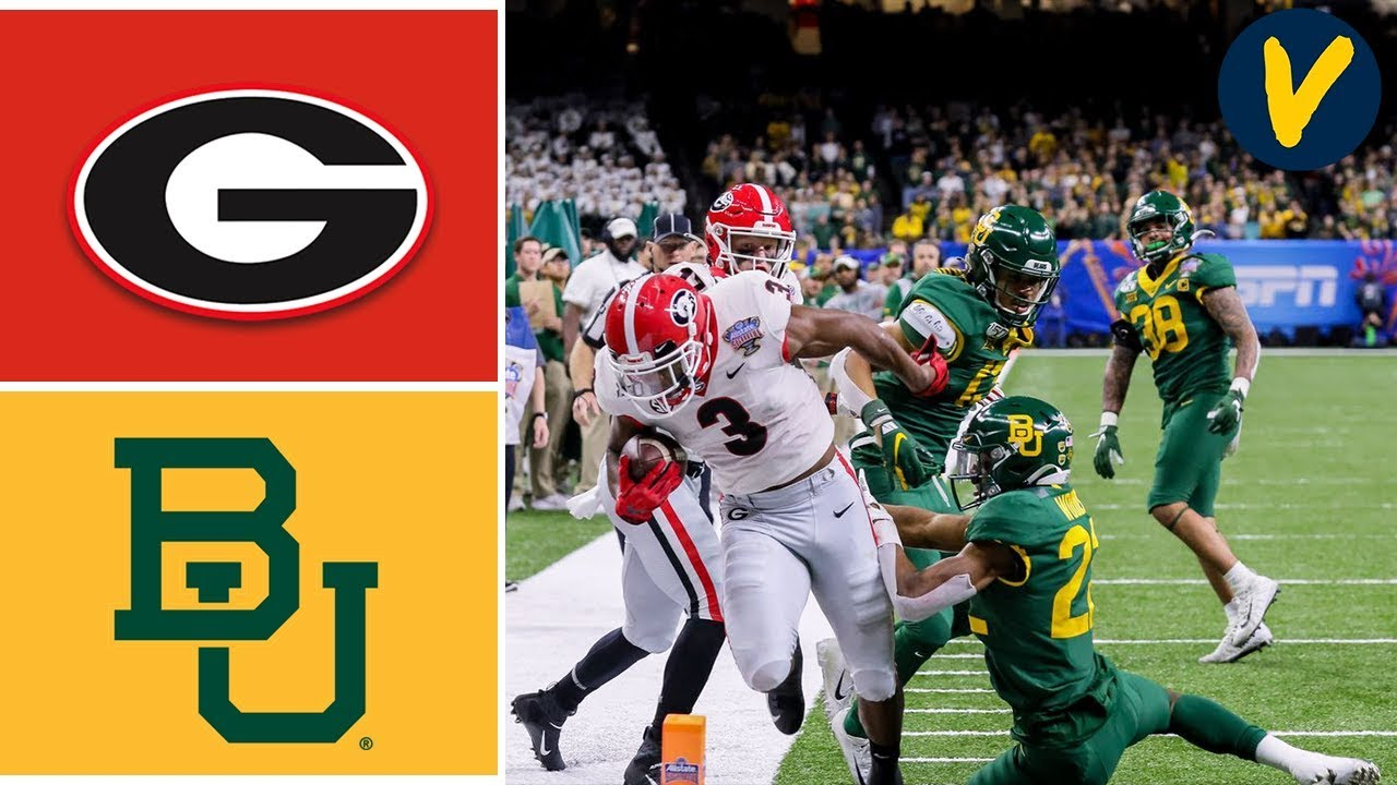 #5 Georgia vs #7 Baylor Highlights | 2020 Sugar Bowl Highlights | College Football