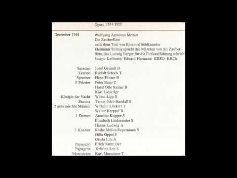 "Mozart ""Die Zauberflöte"" Joseph Keilberth 1954"
