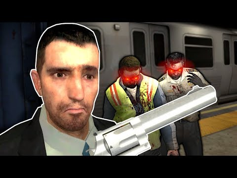 ZOMBIE SURVIVAL IN METRO STATION! - Garry's Mod Gameplay & Zombie Survival