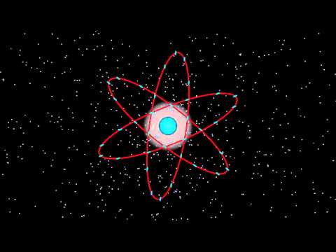 Amazing atomic nucleus animation nuclear emblem atomic icon HD animated cartoon
