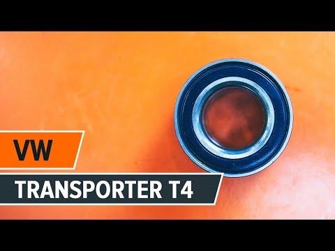 Cómo cambiar los cojinetes de las ruedas delanteras en VW TRANSPORTER T4 [INSTRUCCIÓN]
