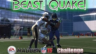 Can I Recreate the Marshawn Lynch Beast Quake Run (vs Saints)? MADDEN CHALLENGE