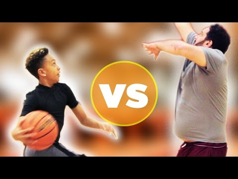 12-Year-Old Basketball Star Vs. Regular Adults