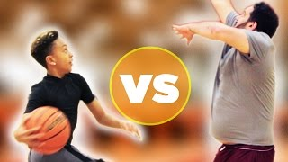 Kid Basketball Pro Vs  Regular Adults