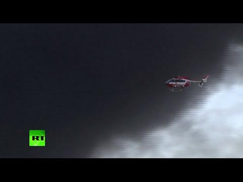 Ukraine oil depot fire 'catastrophic', EU 'may face acid rain'