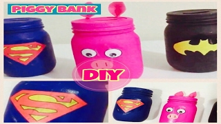 DIY Piggy Bank made out of a Jar or empty flasks!!