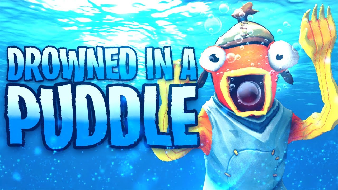 Drowned in a PUDDLE! Fortnite Funny Moments
