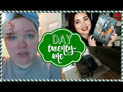 My Poor Skin! + EMPIRE OF STORMS BY SARAH J MAAS BookChat | VLOGMAS