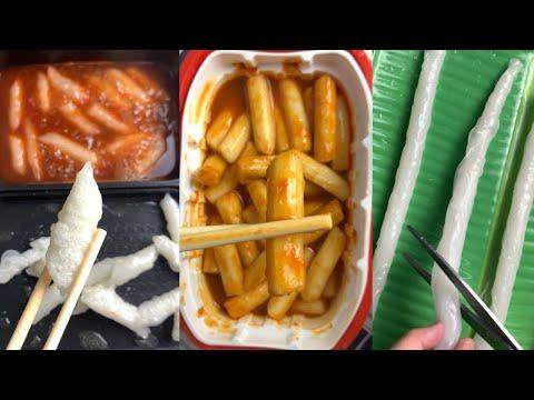 TỔNG HỢP TIKTOK Ăn thử tokbokki tự sôi và cách tự làm nước sốt dễ thôi❤️