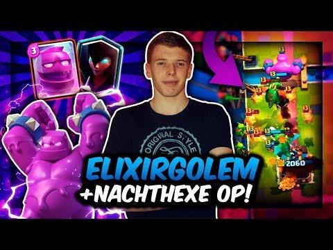 ELIXIERGOLEM + NACHTHEXE = OP?! | NEUES DECK ZERSTÖRT ALLES! | Clash Royale Deutsch