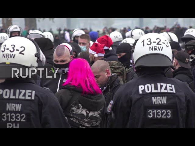 Germany: Police remove far-right group from