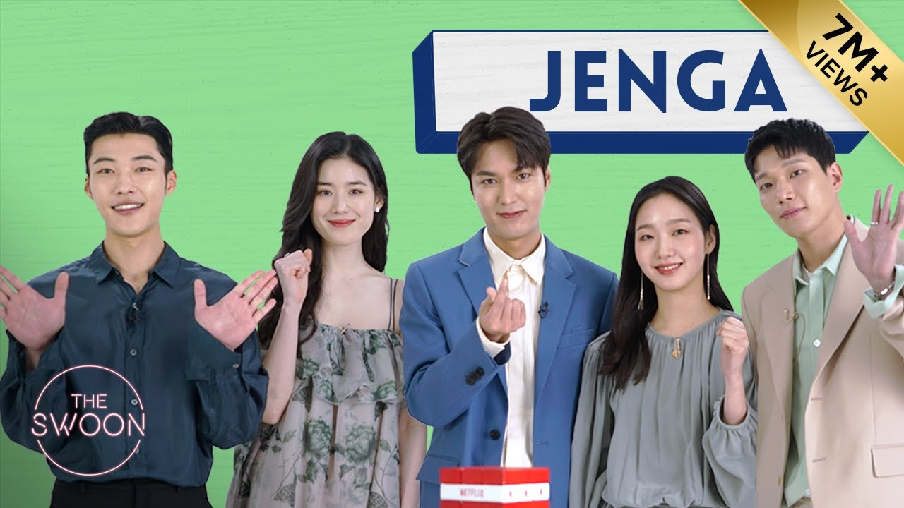 Download Lee Min-ho, Kim Go-eun, Woo Do-hwan, Jung Eun-chae, and Kim Kyung-nam play Jenga [ENG SUB]