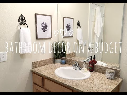 SMALL BATHROOM DECORATING IDEAS | DECOR ON A BUDGET
