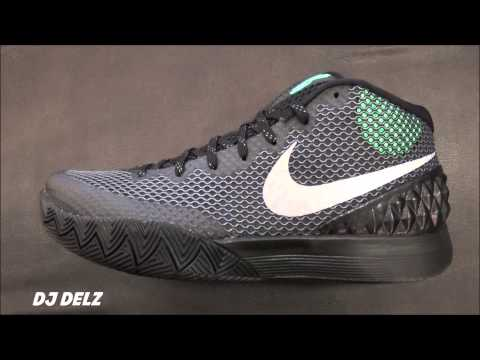 56398b735dfab Nike Kyrie 1 Black Green Glow