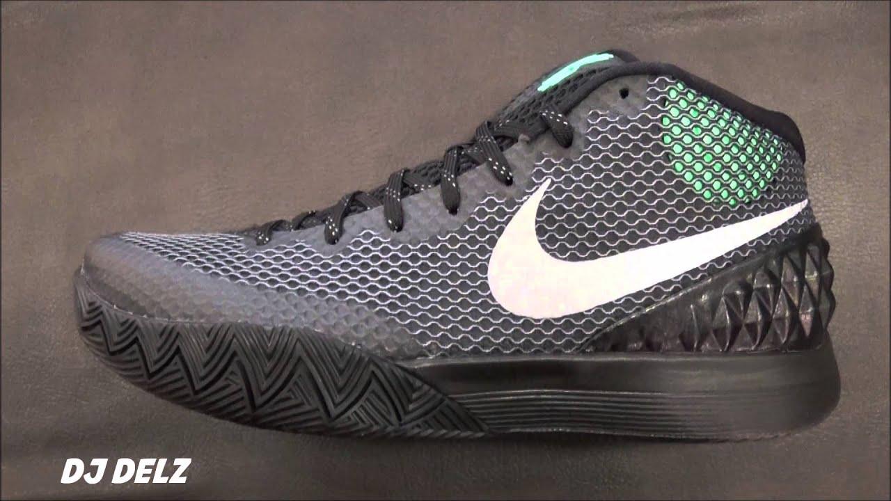 fdbb303fd3c4 Nike Kyrie 1 Black Green Glow
