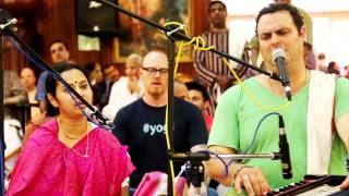 Heart touching Kirtan by Gauravani Prabhu and HG Srivani Mataji at New Vrindavan
