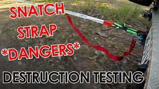 Dangers of Snatch Strap Recoveries - Destruction Testing