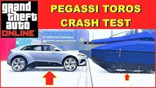 GTA 5 Online new Pegassi Toros CRASH TEST VS TANK