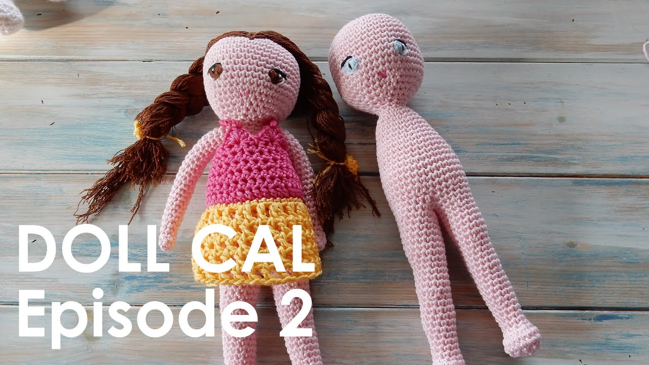 Amigurumi Doll Arms : Crochet amigurumi doll cal ep body and legs youtube