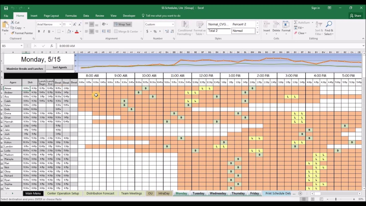 Plan and schedule your call center agents to predicted volumes with this powerful excel spreadsheet