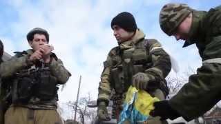 ВСН собирает трофеи вокруг Дебальцево. Ополченцы, ЛНР, ДНР, Новороссия.
