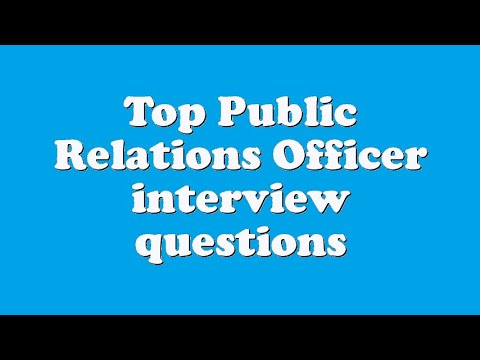 Top Public Relations Officer interview questions