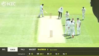 Auckland Aces v Central Stags, 1st Innings Highlights, Round 1, Plunket Shield 19-20