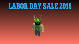 ROBLOX LABOR DAY SALE 2018 [Day 1] || ANSWER QUESTIONS AND SNIPING ITEMS