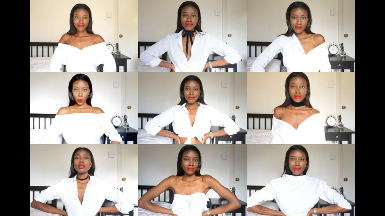 9 Easy Ways to Style A White Shirt | How To Wear A White Shirt, Outfit Ideas