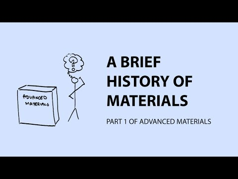 A Brief History of Materials - Part 1 of Nanomaterials & advanced materials