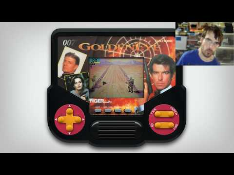 Goldeneye 007 Tiger Electronics Handheld LCD Game Mame Emulated Gameplay