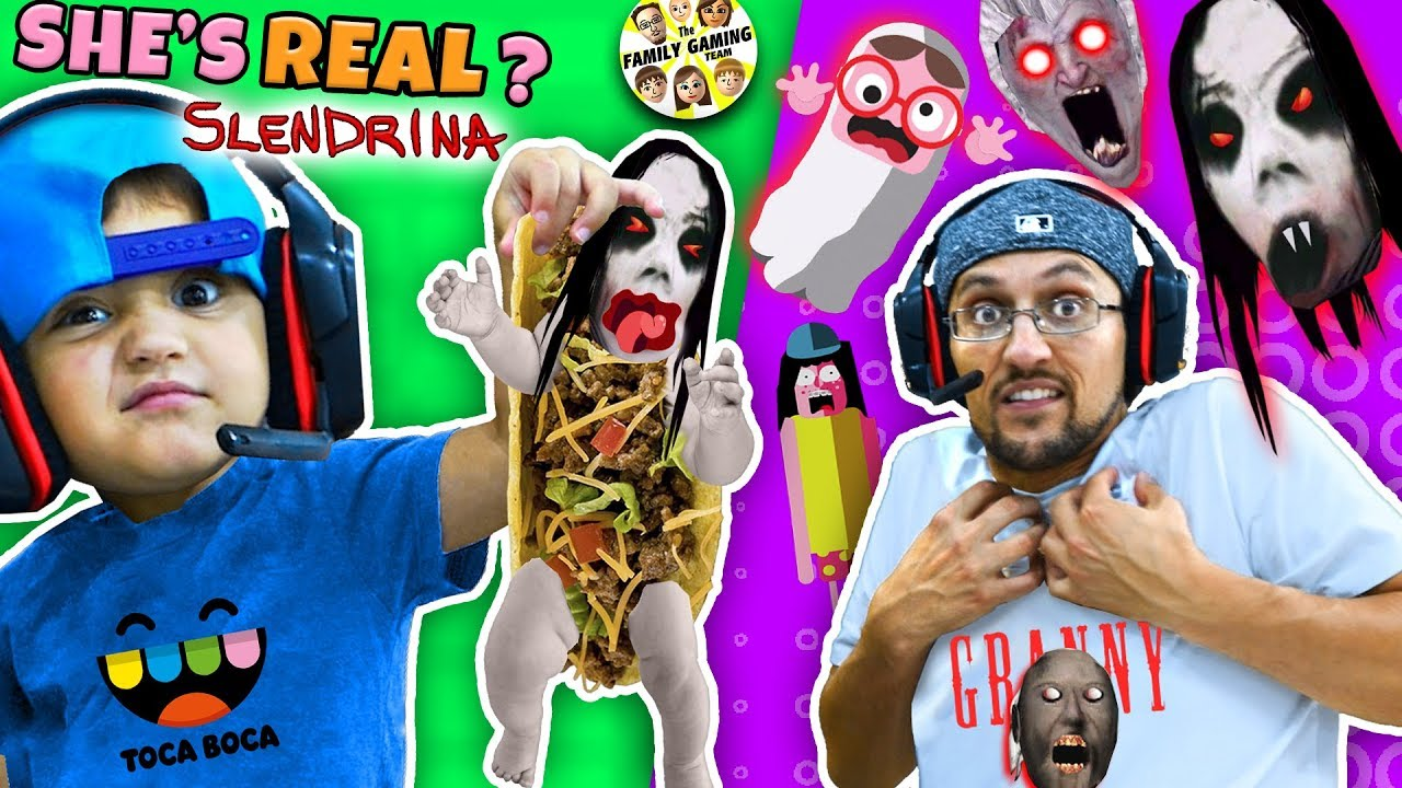 Escape SLENDRINA Taco + Granny Extra Dark & FGTEEV plays Toca Boca BOO! Halloween Game #1