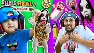 Escape SLENDRINA Taco Granny Extra Dark FGTEEV plays Toca Boca BOO Halloween Game