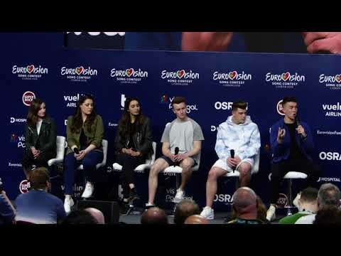 Eurovision Press Conference: Ryan O'Shaughnessy (Ireland, Lisbon 2018)