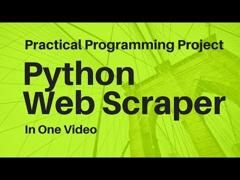 Practical Python Project: Web Scraper Prototype (Semi-Livecoding)