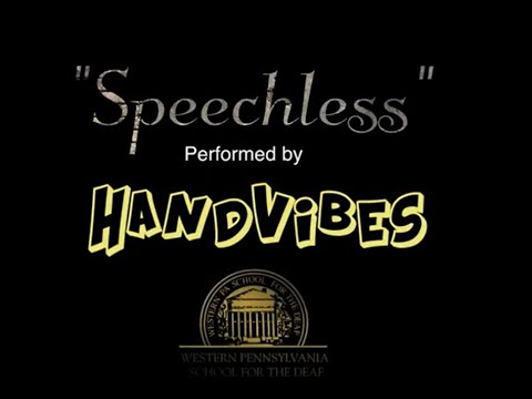"""""""Speechless"""" preformed by HandVibes at the Western Pennsylvania School for the Deaf."""