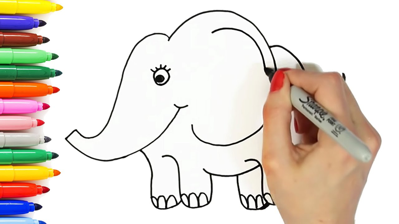 10 easy animal drawings for kids vol 1 step by step drawing tutorials how to draw cute animals - Images Of Drawings For Kids