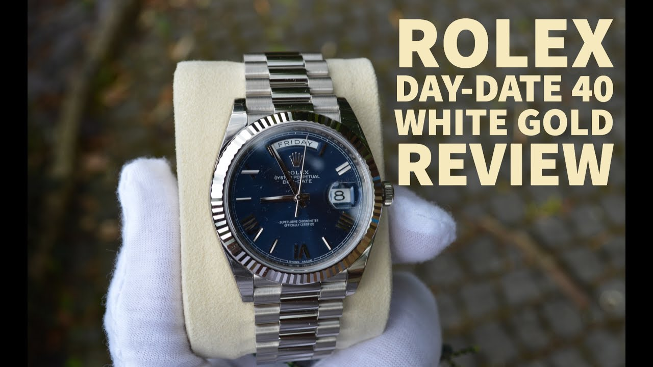2017 Rolex Daydate 40 White Gold  Review  Youtube