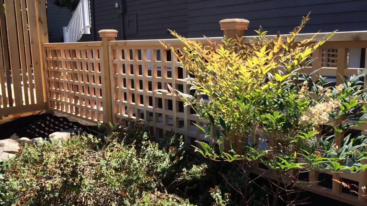 Cedar 2x2 Lattice Garden Railing - YouTube