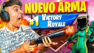 PROBANDO POR PRIMERA VEZ *ESCOPETA DE DOBLE CAÑÓN* en FORTNITE: Battle Royale!! - Agustin51