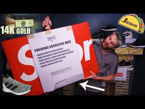Supreme Everlast Mat Tore!?! + Supreme 14K 100 Bill + Adidas A 16 Vlog