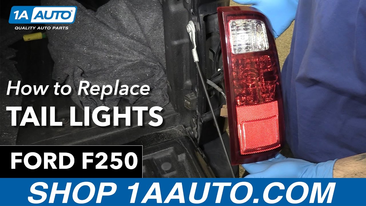 How to install replace tail lights 2013 ford f 250 buy quality auto parts at 1aauto com