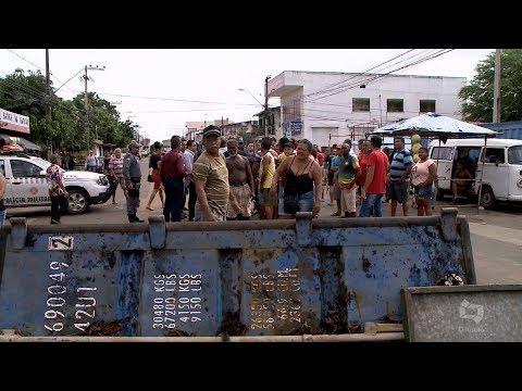 [Edição030419]Trabalhadores bloqueiam avenida perto da Feira do Vinhais