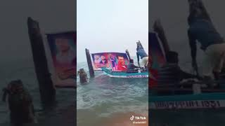 Visvasam banner in sea by thala ajith fans