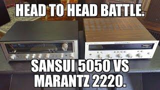 1970's Receiver battle. Head to Head. Marantz 2220 VS Sansui 5050