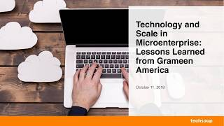 Webinar: Technology and Scale in Microenterprise 2018-10-11