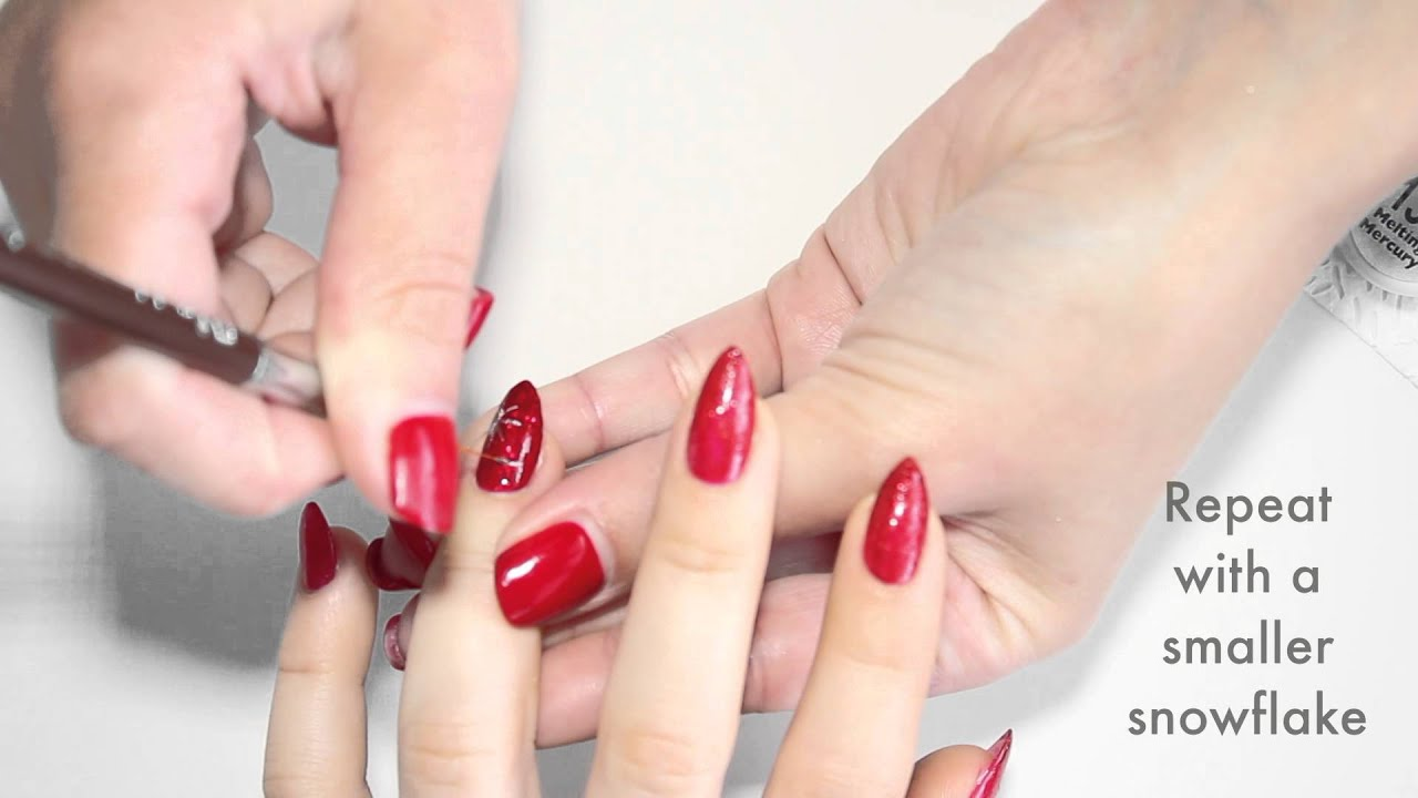 Christmas Nail Art By Bio Sculpture Gel - YouTube