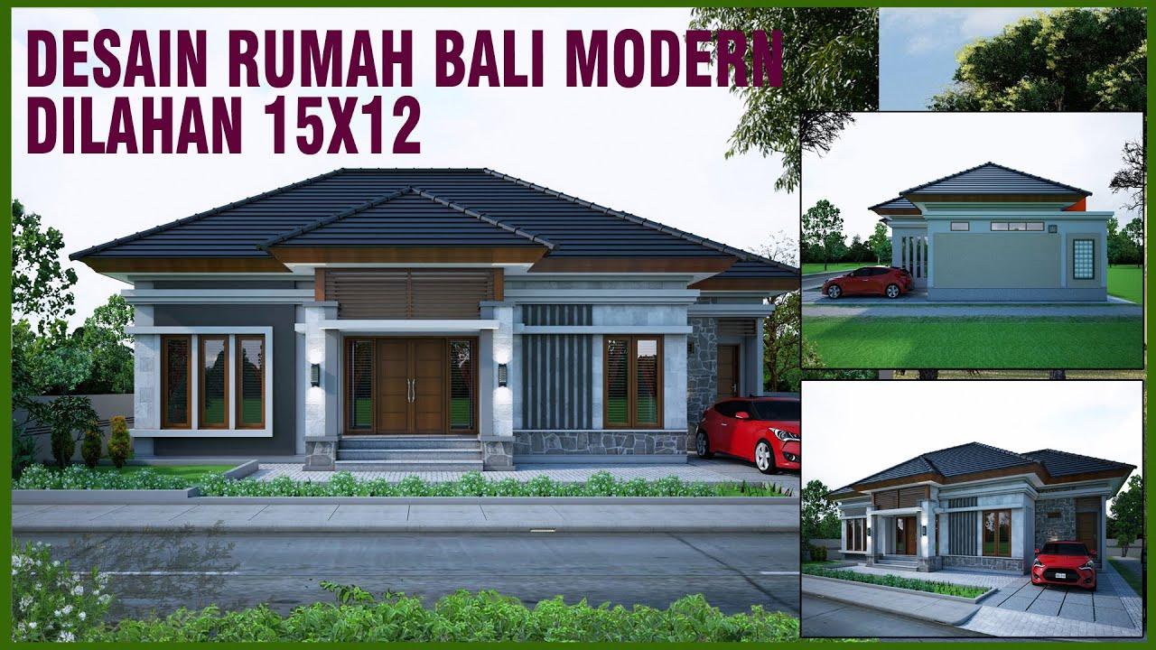 DESAIN RUMAH MINIMALIS MODERN 15x12 DENGAN 3 KAMAR TIDUR ...