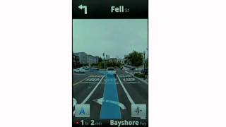 Google Maps Navigation (Beta): Street View