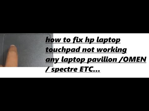 touchpad not working on hp laptop 2017